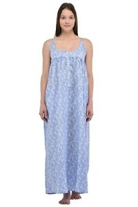Classic Printed Sleeveless Plus Size Nightdress   Cotton Lane
