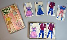 Unused Box Set Paper Doll Bubble Bath 2 Dolls 12 Costumes (on Packets!) 1950s
