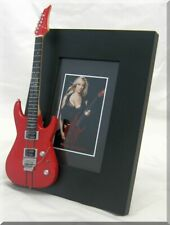 NITA STRAUSS Miniature Guitar Frame IRON MAIDEN