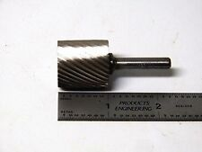 "Grobet USA 1"" Cylinder Single Cut HSS Rotary Burr File - American Made ..(2-3-6)"