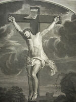 Antoine Coypel (1661-1722) Crucifixion c1700 Engraving 18th The Christ Engraving
