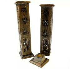 Indian Ash Catcher Burners Cone Tower Holder 30 Cm Tall + 20 Incense Joss Sticks
