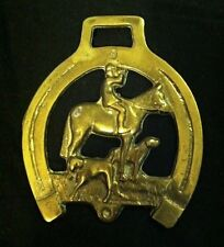 Big Big Big Harness Brass Huntsman on Horse with Hounds in Shoe Wow Your Walls!