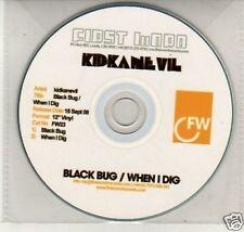 (K129) Kid Kanevil, Black Bug / When I Dig - DJ CD