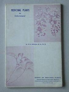 Medicinal Plants of Saharanpur - Ahuja - Plantes médicinales Inde - 1965
