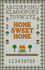 "Home Sweet Home Cross Stitch Kit Sampler 13,5 "" x 8.5 """