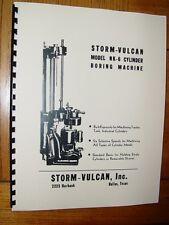 Storm Vulcan Model NK-6 Boring Bar Instruction &  Parts Manual NK6