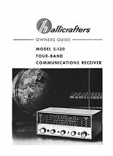 Hallicrafters S-120 S120 Receiver Owners Manual