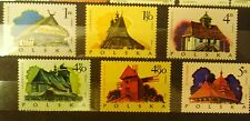POLAND STAMPS MNH 1Fi2154-59 Sc2023-28 Mi2302-07 - Polish folk building,1974, **