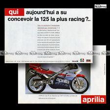 PUB APRILIA 125 AF1 FUTURA - Original Advert / Publicité Moto de 1991