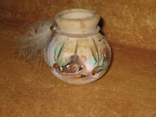 "Miniature Pot Vase Clay Type 2.5"" Handcrafted Tasso"