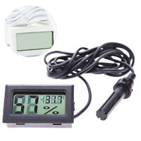 Digital LCD Thermometer Hygrometer & Probe Reptile