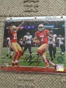 Colin Kaepernick Signed 8X10 Photo Autograph San Francisco 49ers super bowl