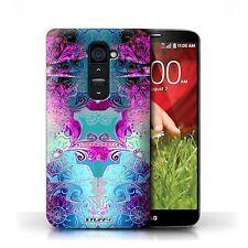 Stuff4 Phone Case/back Cover for LG G2 /symmetry Pattern Pink/blue Floral