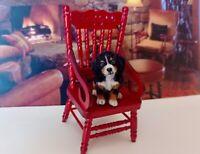 Bernese  Puppy Dog Dollhouse realistic OOAK miniature 1:12 handsculp.handmade