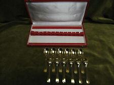 12 cuilleres à moka metal doré filet (demi tasse spoons) JG