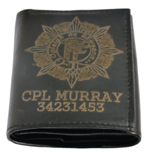 More details for irish army defence force cap wallet personalised gift engraved with any name/no