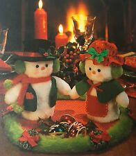 SEWING PATTERN Jean Greenhowe Mr and Mrs Snowbody Snowman 18cm Christmas PATTERN