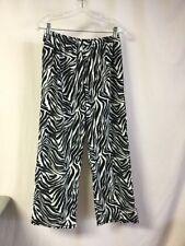NWOT Women's Hue Fleece Sleepwear Pajama Pant Size Medium Black & White #1556P