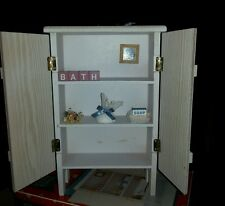 Wooden Doll Closet / Wardrobe Use With American Girl Doll or Decor