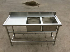 Brand New Double Bowl Sink 1500 x 600 x 900 + 100 mm