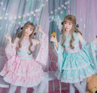Cartoon Little Twin Stars Kimono Women's Dress Lolita Cosplay Costume Full Set