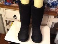 UGG Australia Classic tall Boots Women's Size 35-US Sz 5M Black 5229 Sheepskin