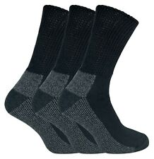 4d510470e423 IOMI - 3 Pack Mens Extra Wide Loose Top Cushioned Cotton Diabetic Work Socks