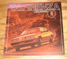 Original 1986 Oldsmobile Firenza Sales Brochure 86 LX GT LC S Cruiser
