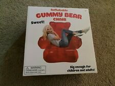 RED GUMMY BEAR INFLATABLE CHAIR NEW 38 INCHES X 33 INCHES BY 26 INCHES
