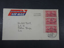 1937 SPEED REPLY AIR MAIL CHICAGO ILLINOIS ENVELOPE FIRST COVER SARATOGA STAMPS