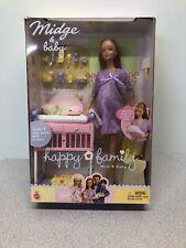 2002 Barbie Happy Family Pregnant Midge W Crib & Accessories -NRFB