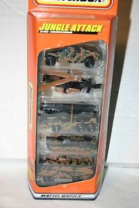 NEW Matchbox Jungle Attack military 5 pack Mattel Wheels cars toys army #31369