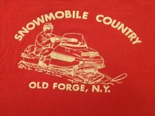 Vintage Enco Originals Snowmobile Country Old Forge T Shirt 70s Very Rare ADX
