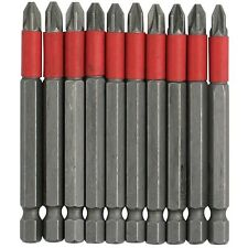 10 pièces 75mm Long antidérapant PZ2 Tournevis cruciforme Ensemble de mèches