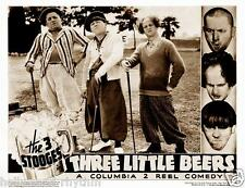 3 STOOGES MOE CURLY LARRY Play Golf In THREE LITTLE BEERS 11x14 LC Print 1935