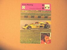 Emerson Fittipaldi Brazil Formula 1 Auto Racing Sportscaster Card