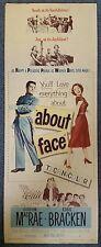 ABOUT FACE - 1952 Original 14x36 Vertical Insert Movie Poster, GORDON MacRAE