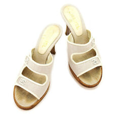CHANEL Sandals COCO Mark unisex Authentic Used T2377