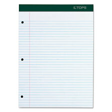 TOPS Double Docket Writing Pad 8 1/2 x 11 3/4 White 100 Sheets 63384