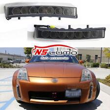 2x LED Daytime Running Light Bumper Reflector Direct Fit Nissan 350Z 03-05 Smoke