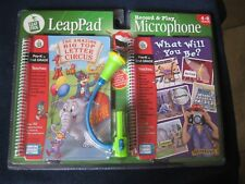 LeapFrog Set LeapPad ~ Record & Play Microphone with 2 Books & Cartridge