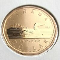 1987-2012 Specimen Canada One 1 Dollar Loonie Uncirculated Canadian Coin N603
