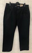 NEW Carhartt Mens Black Weathered Duck Five Pocket Straight Leg Trousers 40 X 32