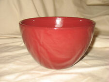 """Pier 1 Imports Earthenware Toscana Burgundy 6"""" Coupe Cereal Bowl Made in Italy"""