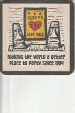 Duffy's Love Shack USVI  with Cruzan Rum On The Back Cardboard Coaster  New