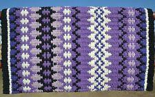 Mayatex Wool Show Saddle Blanket Pad 34x40 Purple Black White Lilac THICK NEW