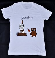 Women's GOOD BYE BUNNY Tee T-Shirt White size M