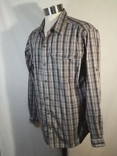 Columbia Omni Shade Plaid Long Sleeve Button Shirt Mens Size Xl (46-48)