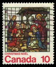 "CANADA 698 - Christmas Stained Glass ""St. Jude Church"" (pf46995)"